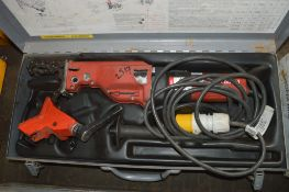 RIDGID 550 110 volt pipe saw Complete with carry case