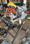 RIDGID 1233 110 volt pipe threading machine Complete with foot pedal and stand