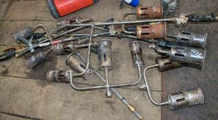 Quantity of gas tar burners as photographed