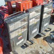 2 - Rhino 110v infrared heaters & 1 Rhino 240v infrared heater