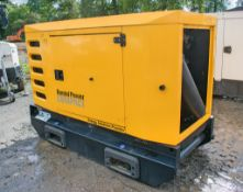 SDMO R33 C3 30 kva diesel driven generator Year: 2016 S/N: 316003627 ** Control panel & other