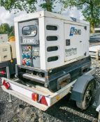SDMO R22 20 kva fast tow diesel driven mobile generator Year: S/N: Recorded Hours: 2567 A604147