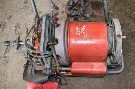 ROTHENBERGER SUPERTRONIC 4S 110 volt pipe threader Complete with foot pedal and threading head