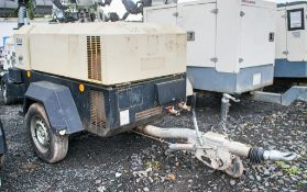 Ingersoll Rand 741 diesel driven mobile air compressor Year: 2012 S/N: 431491 Recorded Hours: 821