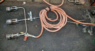 3 head gas tar burner