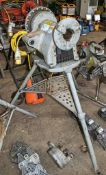 Ridgid 300 110 volt pipe threading machine Complete with tri-stand and foot pedal