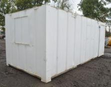 21 ft x 9 ft steel anti vandal site office unit c/w keys in office A450935