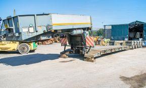 Faymonville STBZ-4VA 4 axle rear steer low loader semi trailer Serial Number: 113405