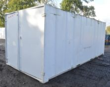21 ft x 9 ft steel anti vandal shipping container c/w keys in office A508242
