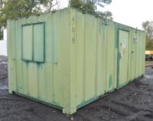 21 ft x 9 ft steel anti vandal site office unit Comprising 2 office rooms and 1 toilet and shower