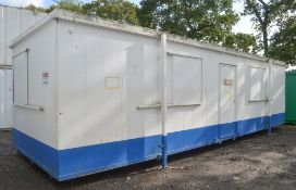 32 ft x 10 ft jack leg steel anti vandal site office unit c/w keys in office NH7700004