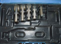 5 - Geberit pipe press jaws c/w carry case