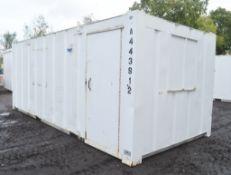 21 ft x 9 ft steel anti vandal site office unit * Locked no keys * A443812