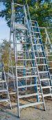 Youngman 10 tread aluminium step ladder