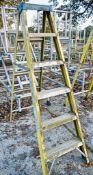 Youngman 6 tread glass fibre framed step ladder