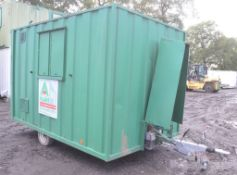 Groundhog 12 ft x 8 ft steel anti vandal mobile fast tow site welfare unit Comprising kitchen,