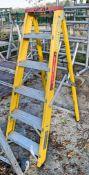 Lyte 6 tread glass fibre framed step ladder