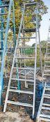 Zarges 8 tread aluminium step ladder