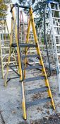 Youngman 6 tread fibre glass framed step ladder A837917