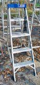 Clow 5 tread aluminium step ladder