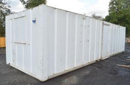 32 ft x 10 ft steel anti vandal site office unit c/w keys in office A405796