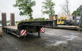 Faymonville STN-3U 13.6 metre step frame tri-axle low loader trailer Year: 2010 S/N: 309100009291