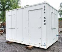 12 ft x 9 ft steel anti vandal office site unit c/w keys BBA1523