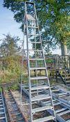 12 tread aluminium step ladder