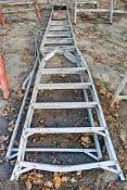 12 tread aluminium step ladder ** Damaged **