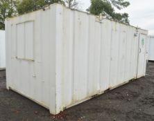 21 ft x 9 ft steel anti vandal site office unit Comprising kitchen area c/w keys in office