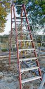 Youngman 8 tread glass fibre framed ladder