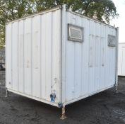 12 ft x 8 ft jack leg steel anti vandal toilet block Comprising 2 cubicle toilets, 2 urinals and