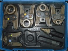 Geberit pipe press tooling c/w carry case