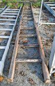 Wooden pole ladder