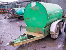Trailer Engineering 950 litre tandem axle bunded fuel bowser c/w hand pump, delivery hose & trigger