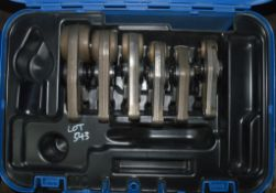 6 - Geberit pipe press jaws c/w carry case