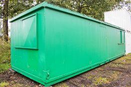 32 ft x 10 ft steel anti vandal office site unit c/w keys BB33622