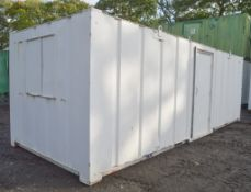 24 ft x 9 ft steel anti vandal site office unit c/w keys in office A343900