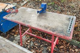 Ridgid steel collapsible site bench c/w pipe vice & bench vice
