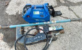 Click Stick hydraulic pipe squeeze c/w control box
