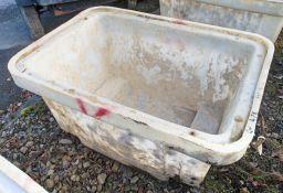 Plastic mortar tub