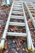 Aluminium 2 stage ladder  * Damaged *