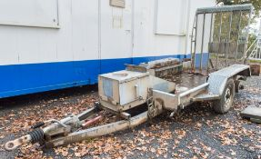 Indespension 8 ft x 4 ft tandem axle plant trailer S/N: 168358 ** Wheel missing **