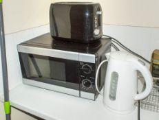 Toaster, kettle & microwave