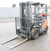 Doosan G25e-5 2.5 tonne gas forklift Year of Manufacture: 2012 S/N: 03511 Recorded hours: 13077