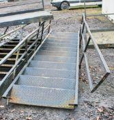 Steel stair case & landing