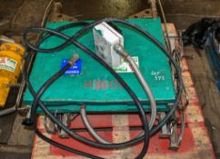 Pallet of fusion welding equipment as photographed