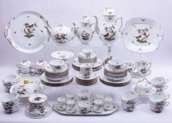 Kaffee-, Tee-, Mokkaservice, Herend, Rothschild, Kaffeekanne H 26,5cm, Teekanne, Mokkakanne,