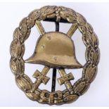 Verwundetenabzeichen Armee und Kolonialtruppen 1918 in schwarz durchbrochenAbzeichen hohl geprägt