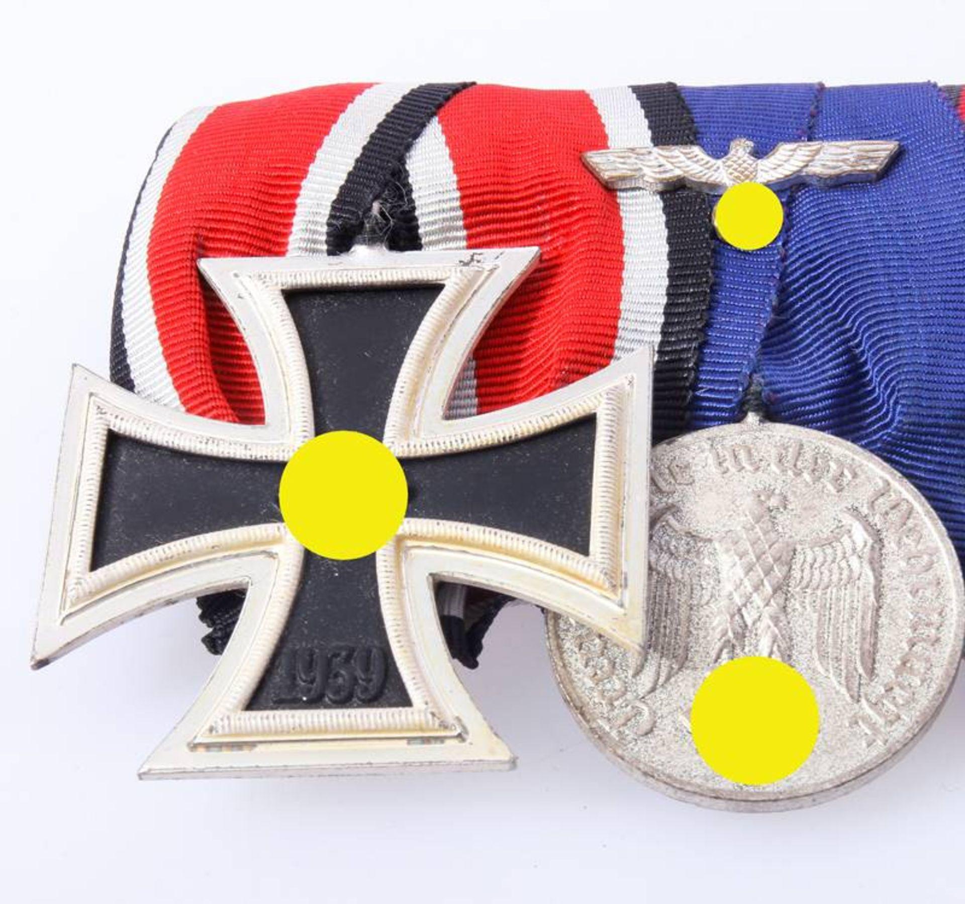 Ordenschnalle mit 4 AuszeichnungenEisernes Kreuz 2. Klasse 1939 , Dienstauszeichnung Wehrmacht 4 - Bild 3 aus 6